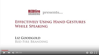 Effectively Using Hand Gestures While Speaking