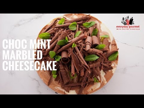 Cadbury Choc Mint Marbled Cheesecake | Everyday Gourmet S6 E25