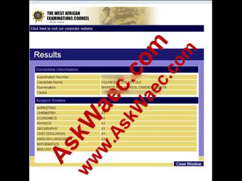 Askwaec Upgrading Waec Result To 9A