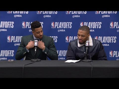 Damian Lillard & CJ McCollum Postgame Interview - Game 7 | Nuggets vs Blazers | 2019 NBA Playoffs