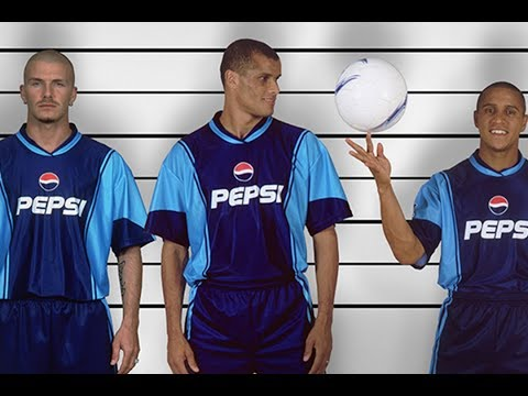 The Ridiculous 2001 Pepsi World Challenge Ft. Beckham, Roberto Carlos, Rivaldo And More