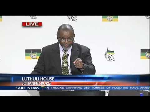 Gwede Mantashe on the ANC candidate list