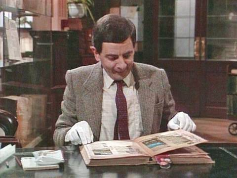 Mr Bean – Library destruction