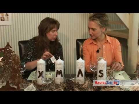 Bastelzeit TV 21 - Festliche Tisch-Deko mit Ina Kruschel