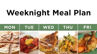Weekly meal plan featuring 5 quick and easy dinner recipes.___GET THE RECIPES: http://bit.ly/2q9nHsn___CONNECT WITH KIN COMMUNITYSubscribe here: http://bit.ly/MKYoureInvitedFacebook: https://www.facebook.com/KinCommunityPinterest: https://www.pinterest.com/kincommunityTwitter: https://twitter.com/kincommunityInstagram: https://instagram.com/kincommunitySnapchat: http://bit.ly/AddKinYour source for new skills, new stuff, and new perspectives related to the most important place in the world, Home. Make your way home with Kin Community.