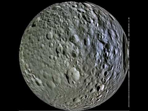 Mimas rotating