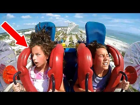 Kids Passing Out #5 | Funny Slingshot Ride Compilation