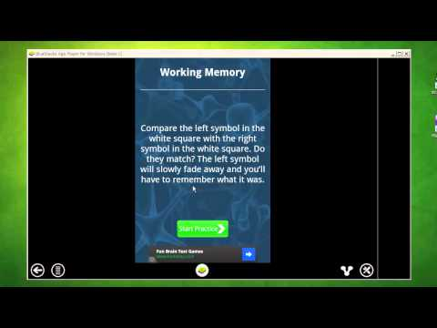 Video of Complete Memory Training Game