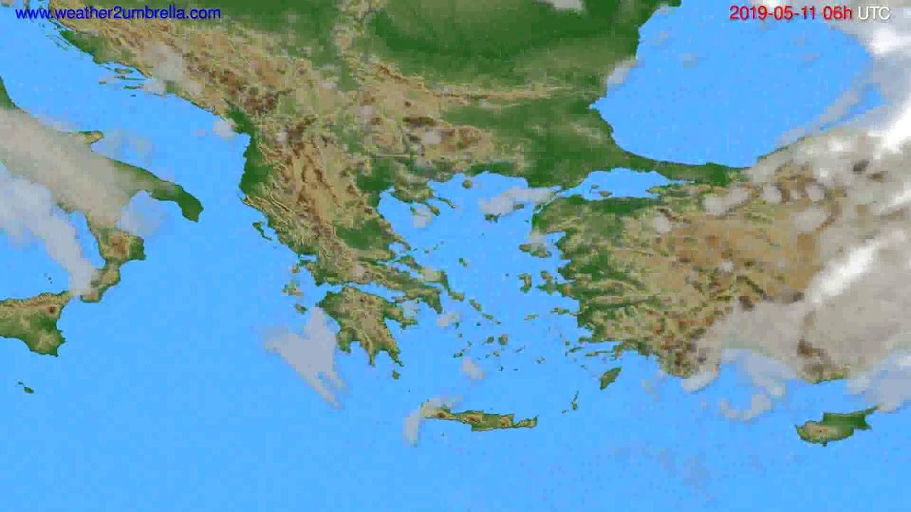 Cloud forecast Greece // modelrun: 00h UTC 2019-05-09