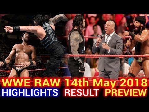 WWE Monday Night Raw 14th May 2018 Hindi Highlights Preview - Brock Lesnar vs Roman Reigns Results
