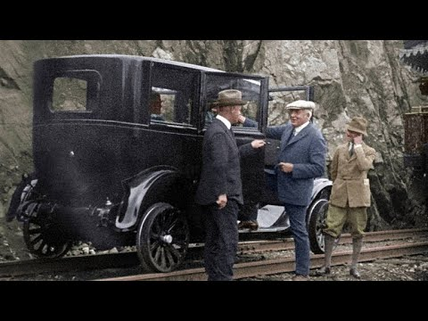 President Harding Tours Alaska in a Specially Adapted Car