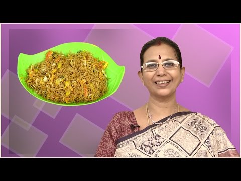 Bajra Veg Sevai | Mallika Badrinath | Oil Free  Diabetic and Healthy Indian Recipes
