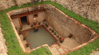 Video Dig to build Most Awesome Underground House and Underground Swimming Pool MP3, 3GP, MP4, WEBM, AVI, FLV Maret 2019