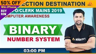 RRB PO Mains 2019 | Computer Awareness | Binary Numbers