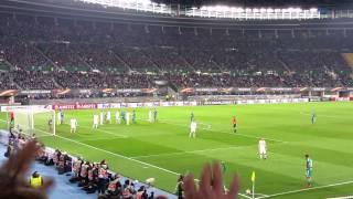 Aus der Fan-Perspektive: Steffen Hofmann trifft zum 1:1 gegen Pilsen