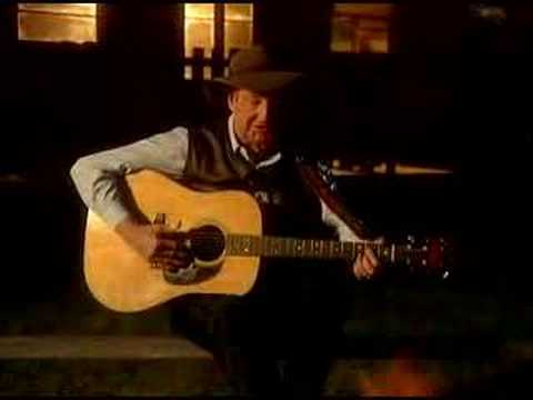 Slim Dusty: Waltzing Matilda (Video sitting by  a c ...