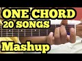 1 Chord 20 Guitar songs MASHUP Lesson | Bollywood/Hindi Songs Mashup | One chord | Sidharth Salathia