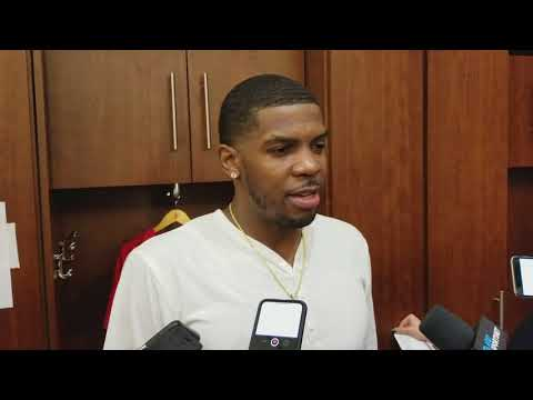 Joe Johnson after his first game as a Houston Rocket