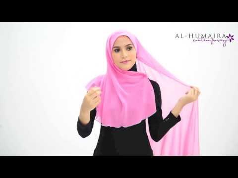RAEKA shawl styling tutorial by Al-Humaira Contemporary