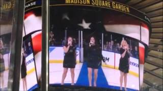 The Highland Divas Sing The National Anthem at Madison Square Garden!
