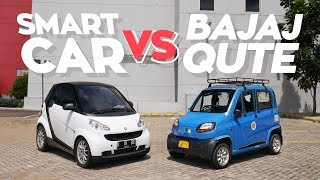 Video SMART VS BAJAJ QUTE! MP3, 3GP, MP4, WEBM, AVI, FLV September 2019