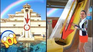 Самые Крутые Горки День в Аквапарке Обзор Парк Развлечений Atlantis Дубай | Elli Di