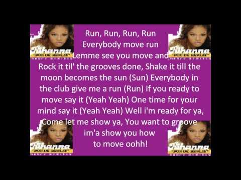 """, title : '""""Rihanna - Pon De Replay with Lyrics""""'"""