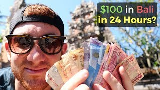 Download Video How Much Fun Can You Have in BALI with $100 in 24 Hours? MP3 3GP MP4