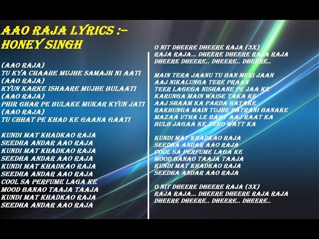 Download A Song Aao Raja