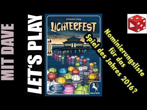 Lichterfest • Pegasus • Test / Let's Play auf deutsch • Brettspiel / Legespiel