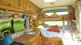 FAMILY VAN TOUR: Removable Bunk Bed System & Beach Style |  LWB Van Conversion by Nate Murphy