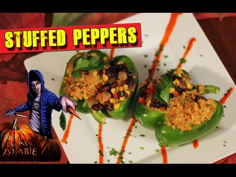 Stuffed Pepper Recipe & Vegan Queso | ZOMBIE#6
