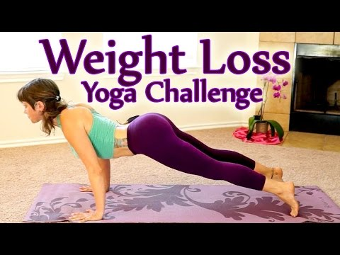 Yoga Weight Loss Challenge Workout 1- 30 Minute Fat Burning Yoga Meltdown Beginner & Intermediate