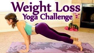Yoga Weight Loss Challenge Workout 1- 30 Minute Fat Burning Yoga Meltdown Beginner & Intermediate - YouTube