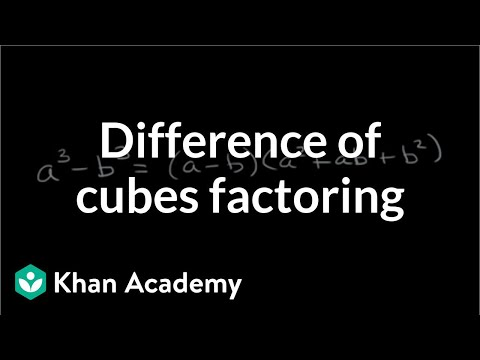 Factoring difference of cubes video khan academy ccuart Image collections