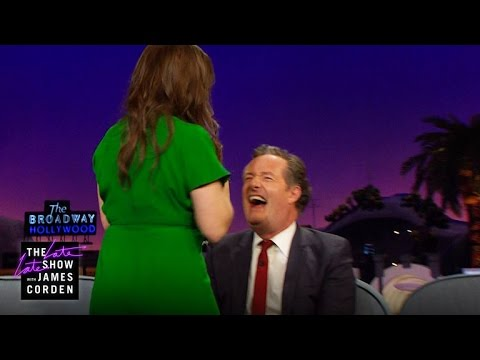 Mayim Bialik destroys Piers Morgan with her cleavage!