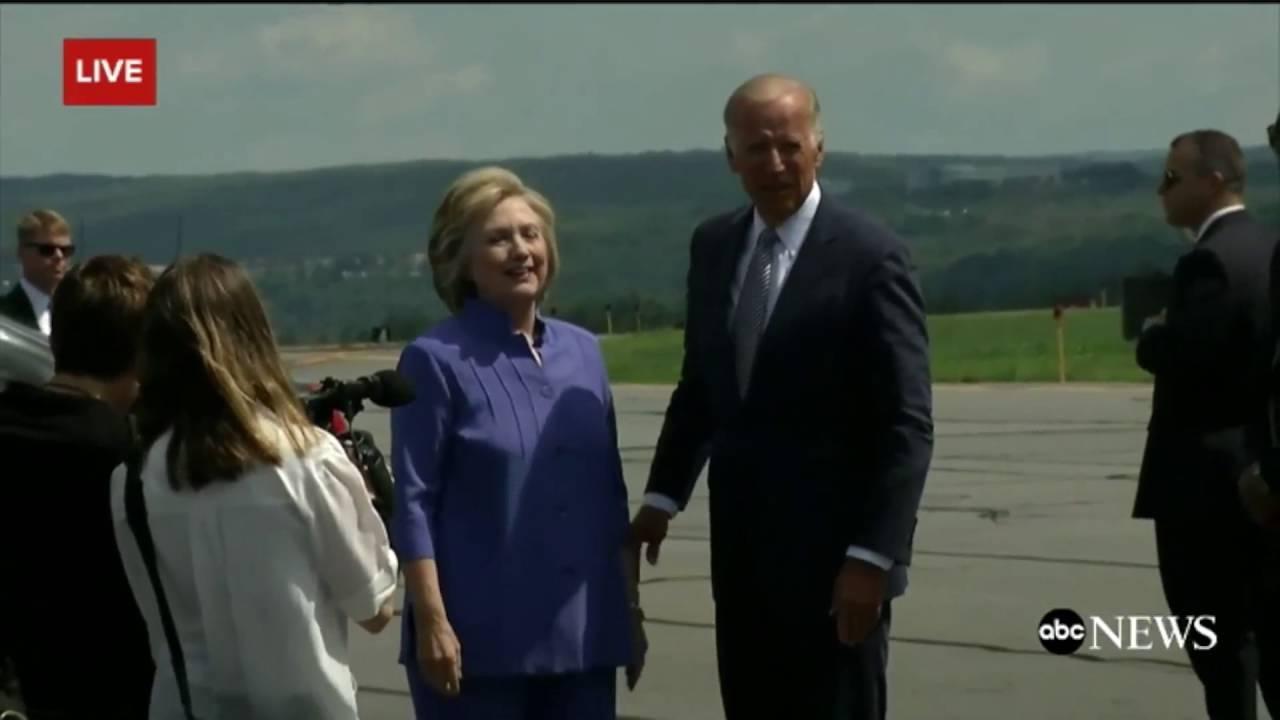 WATCH Joe Biden And Hillary Clinton Share An Awkwardly Long Hug In Pennsylvania