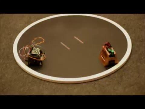 Roboty sumo rywalizowały na ringu na UTP