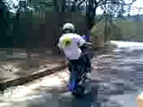 xtz 125 X lander xtz x 250 motard wheeling ..(aws