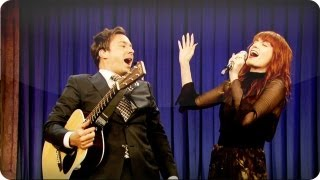 "Audience Suggestion Box: Jimmy Fallon & Florence Welch Sing ""Balls In Your Mouth"""