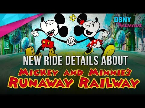 New Ride Details About Mickey & Minnie's Runaway Railway Coming To WDW - Disney News - 9/19/17