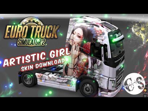 Volvo FH 2012 Artistic Girl Skin + Trailer Standalone
