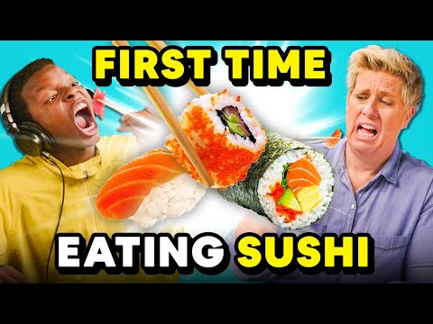 People Try Sushi For The First Time | REACT