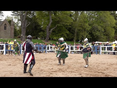 USA v Australia Knights in 5 v 5 during IMCF World Championships 2018 at  Scone Palace, Scotland
