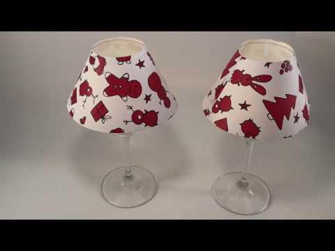 simpatiche lampade segna posto con carta regalo riciclata