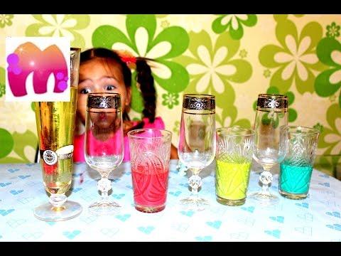 Опыты и эксперименты для детей Бурлящая Цветная Жидкость и ПУЗЫРЬКИ Фокусы експерименц