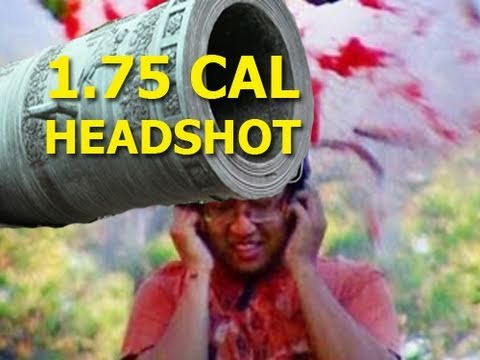 200fps .50 Cal freddiew HEAD EXPLOSION 1.75 Cannon William Tell