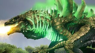 GOLDEN GODZILLA VS MECHA SPINO + MECHA T.REX!!! - ARK Survival Evolved Modded