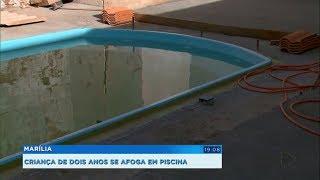 Criança de dois anos se afoga na piscina de casa em Marília