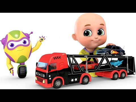 Kids Toys - Car Loader Truck | Surprise Eggs Toys from Jugnu kids